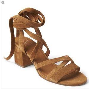 Gap Suede Lace-up sandals - size 10